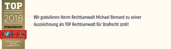 Rechtsanwalt Bernard vom Nachrichtenmagazin FOCUS ausgezeichnet-HALB