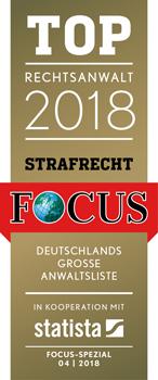 FCS_Siegel_TOP_Rechtsanwalt_2018_mit_Quelle_StrafrechtRechtsanwalt Bernard vom Nachrichtenmagazin FOCUS ausgezeichnet
