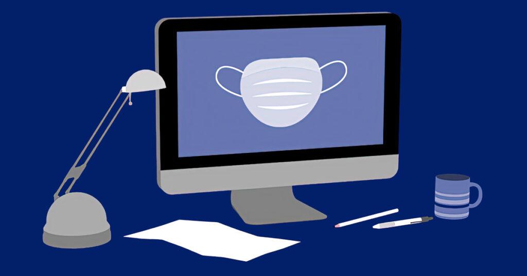 Bild Blogbeitrag, corona am arbeitsplatz, maskenpflicht